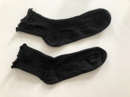 sorte bomuldsstrømper
